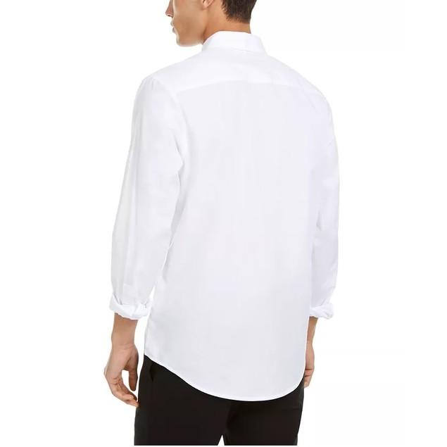 INC International Concepts Men's Collar Chain Shirt White Size Large