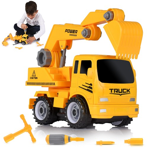 Fun Educational Take Apart Construction Truck Engineering Toy Playset