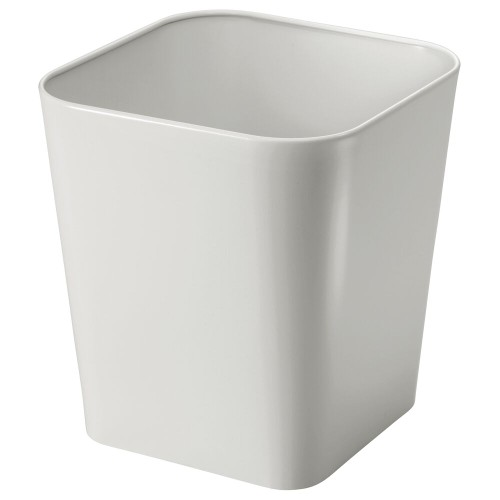 mDesign Metal Square Small Trash Can Wastebasket Garbage Bin
