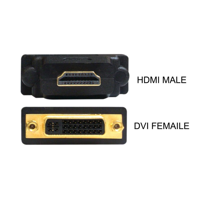 DVI to HDMI Adapter, DVI Female to/from HDMI Male