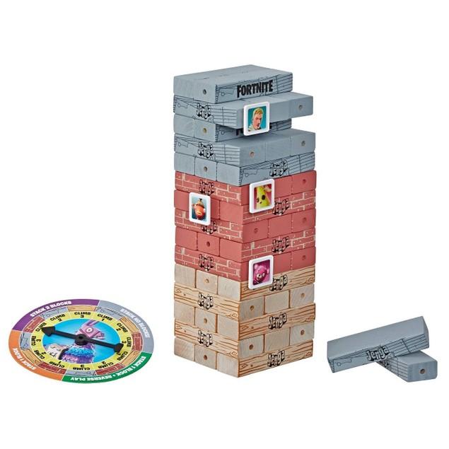 Jenga: Fortnite Edition Block Stacking Game w/ 45 Hardwood Jenga Blocks