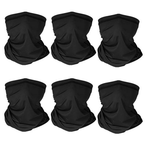 6Pcs Summer Neck Gaiter UV Sunscreen Protection Face Mask Scarf