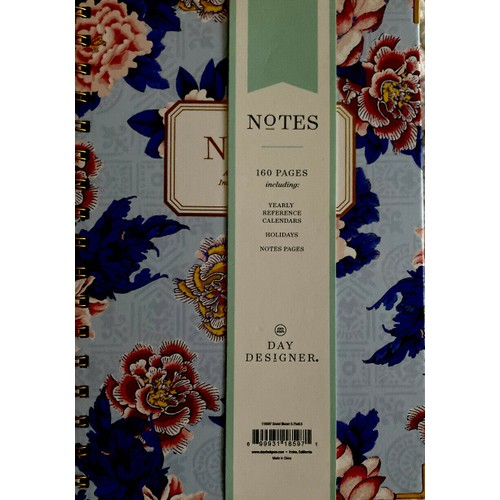 Day Designer Floral Smart Journal for Intentional Note 160 Ruled Pgs,