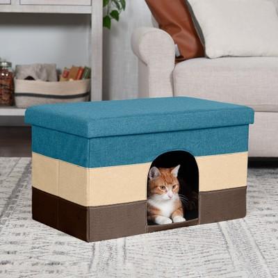 FurHaven Footstool Ottoman Pet House (Large)