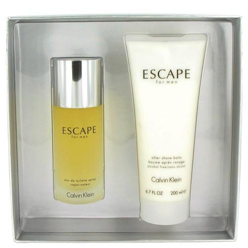ESCAPE Gift Set -- 3.4 oz Eau De Toilette Spray + 6.7 oz After Shave Balm