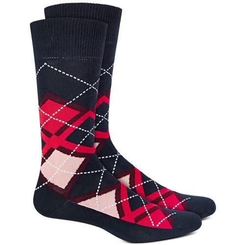 Alfani Men's Argyle Socks Red Size Regular