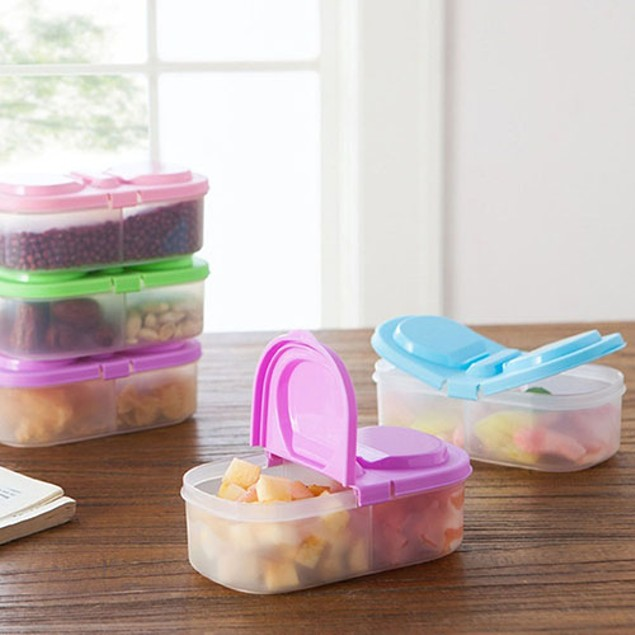 902ML Portable Kitchen Container Fresh Food Storage Sauce Case