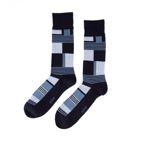 Alfani Men's Abstract Boxes Socks Navy Size Regular