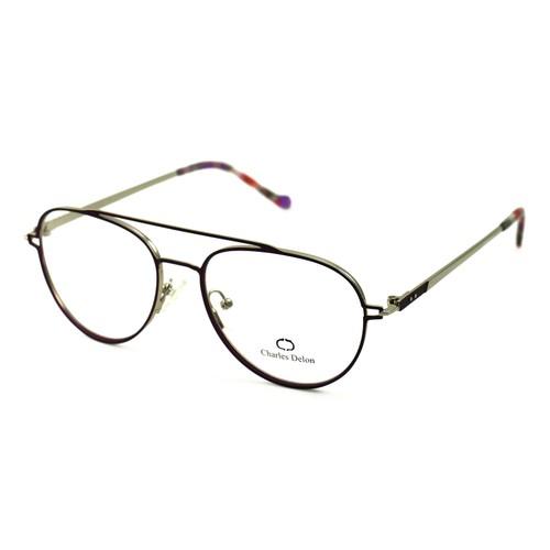 Charles Delon Women Eyeglasses ML6077 C3 Satin Purple 55 16 140 Stainless Steel