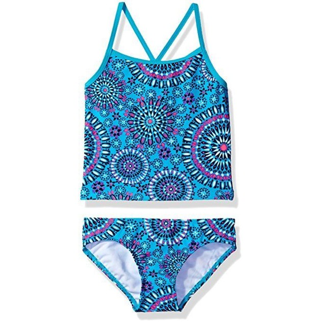 Kanu Surf Big Girls' Melanie Tankini Swimsuit, Aqua, 12