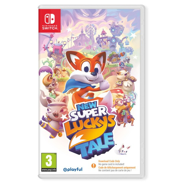New Super Lucky's Tale Nintendo Switch Game [Code in a Box]