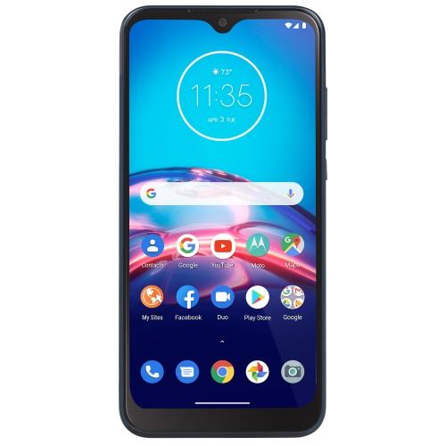 Tracfone Motorola moto e, 32GB, Blue - Prepaid Smartphone (Locked)