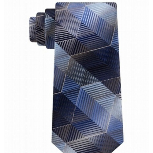 Van Heusen Men's Classic Zig Zag Stripe Silk Tie Black One Size