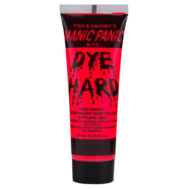 Electric Lava Red Dye Hard Manic Panic Styling Gel 1.66 oz Washable Color