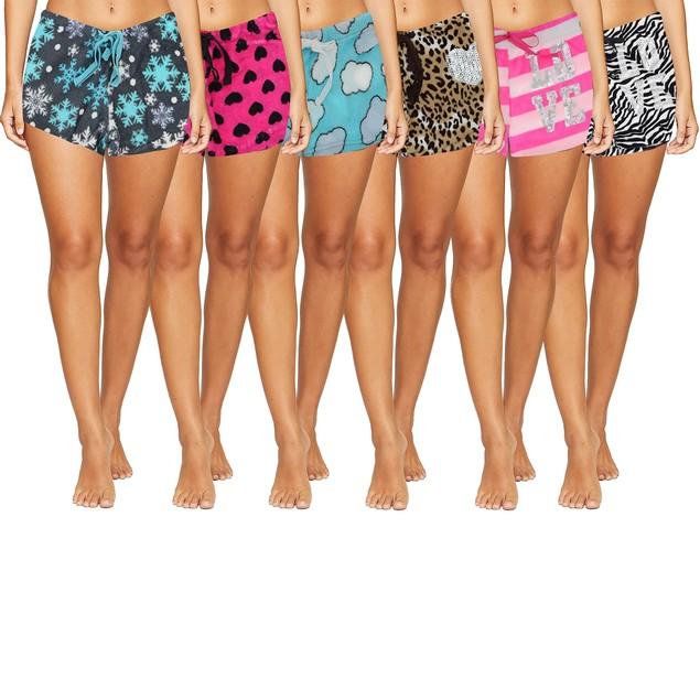 Multi-Pack Junior Super Soft Ultra Plush Fun/Funky PJ Shorts