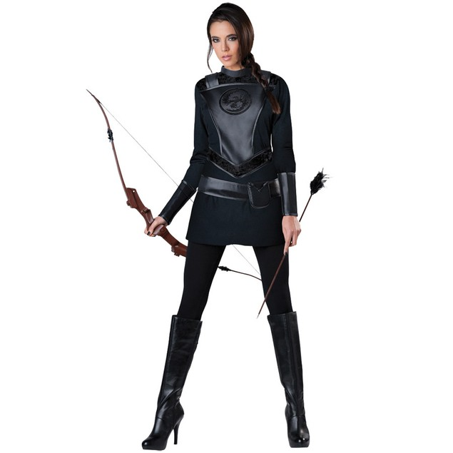 Warrior Huntress Costume Katniss Hunger Games Mockingjay Movie Part Womens