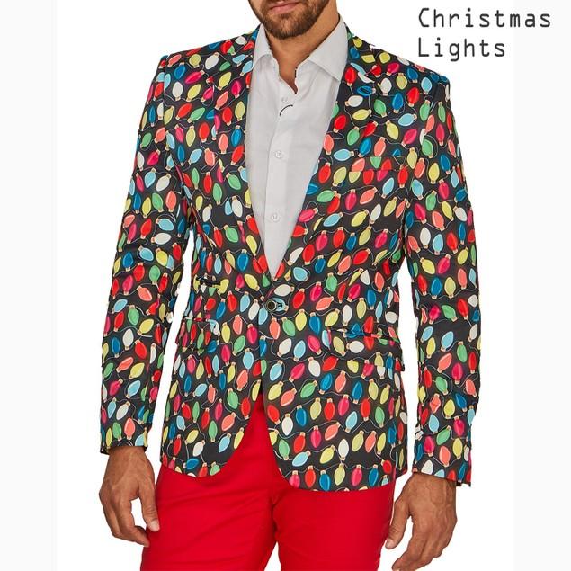 Suslo Couture Men's Slim Fit Christmas Blazers
