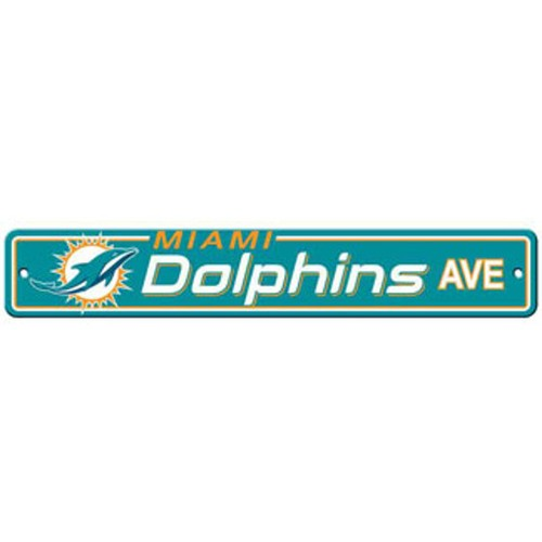 """Miami Dolphins Ave Street Sign 4""""x24"""""""