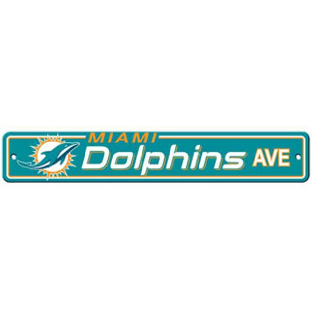 "Miami Dolphins Ave Street Sign 4""x24"""