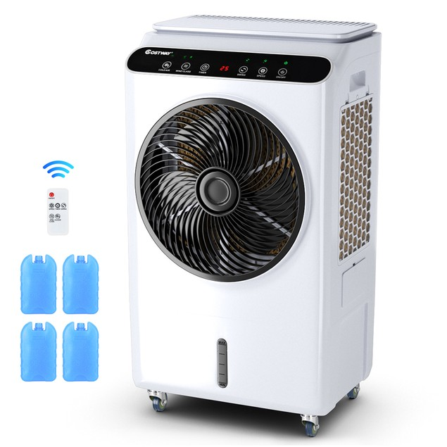 Costway Evaporative Portable Air Cooler Fan & Humidifier W/ Remote Control