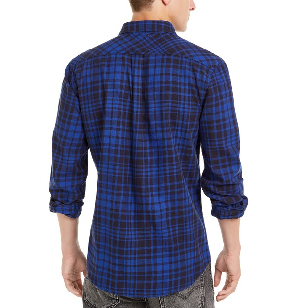 Levi's Men's Alban Plaid Flannel Shirt Turq Size Extra Large