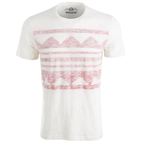 American Rag Men's Printed T-Shirt White Size Extra Large