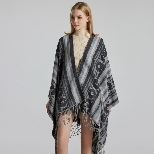Ladies Jacquard Shawl Street Fashion To Keep Warm