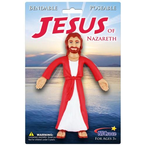 Jesus Of Nazareth Bendable Figure Christ Bible Novelty Catholic 5.5 Inch
