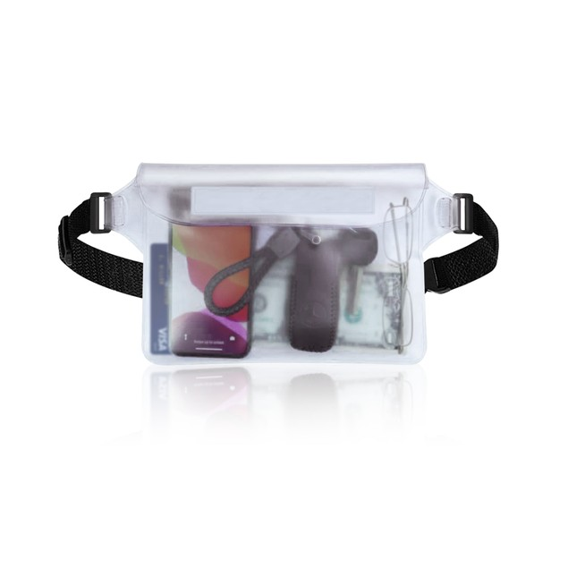 Waterproof Pouch with Waist Strap for Phone, Valuables, and Beach Accessories