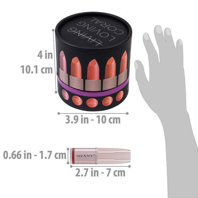 SHANY Loving Coral Lipstick Set - 10 pcs