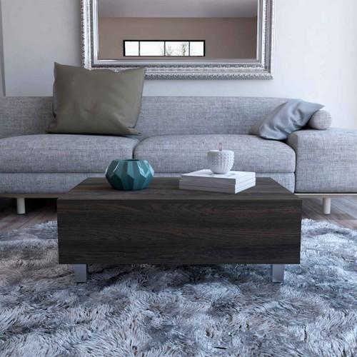 Boston Top Coffee Liftable Table, 1 Cabinet, Particle Board Design