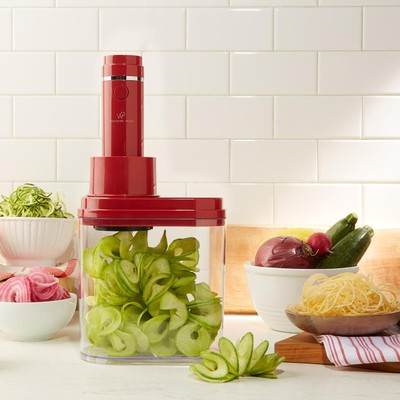 Wolfgang Puck 3-in-1 Electric Power Spiralizer With 3 Blades and Recipes