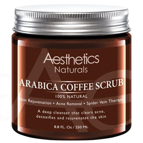 Aesthetics Natural Arabica Coffee Scrub (8.8 Oz.)