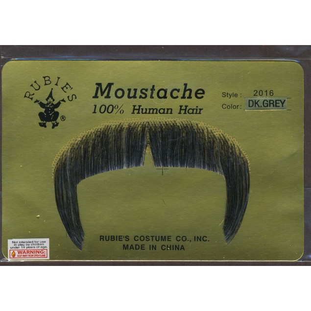 Gray Zapata Moustache 100% Human Hair Mexican Cowboy Emiliano Accesories