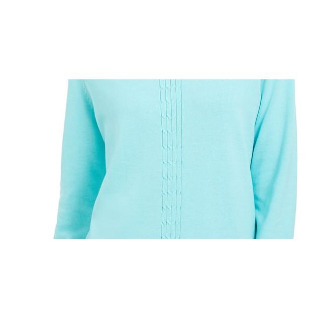 Karen Scott Women's Cotton Cable-Knit Sweater Blue Size X-Small
