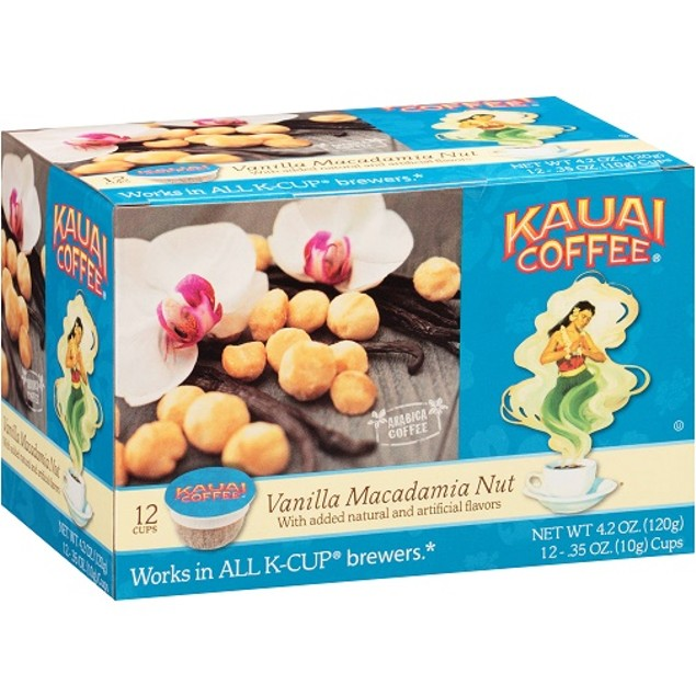 Kauai Coffee Vanilla Macadamia Nut Keurig K-Cups