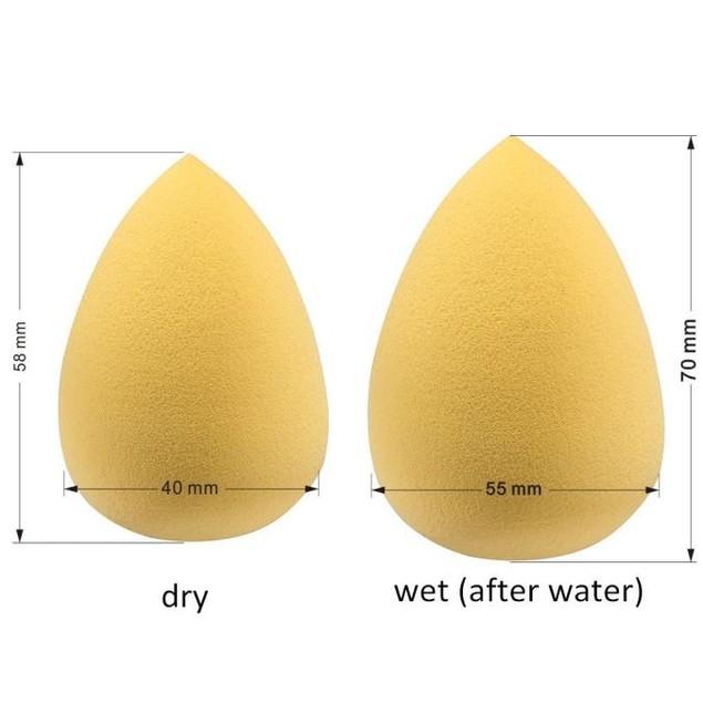 4pc Pro Makeup Foundation Beauty Droplets Sponge Puff