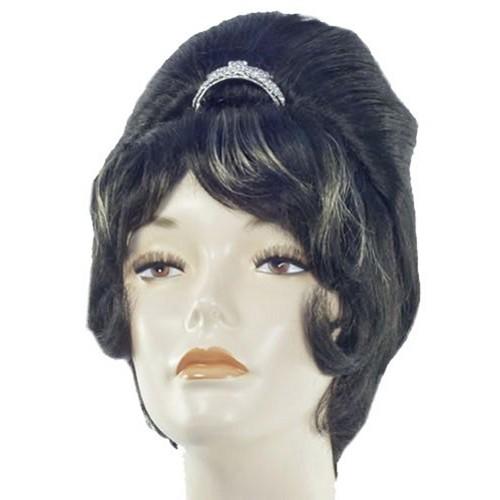 Audrey Hepburn Wig Breakfast at Tiffany's Tiara Black Movie Costume Womens