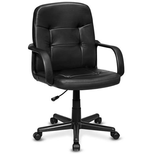 Costway Ergonomic Mid-Back Executive Office Chair Swivel Computer Desk Task