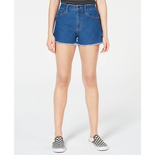 Tinseltown Juniors' Frayed Denim Shorts Blue Size 13