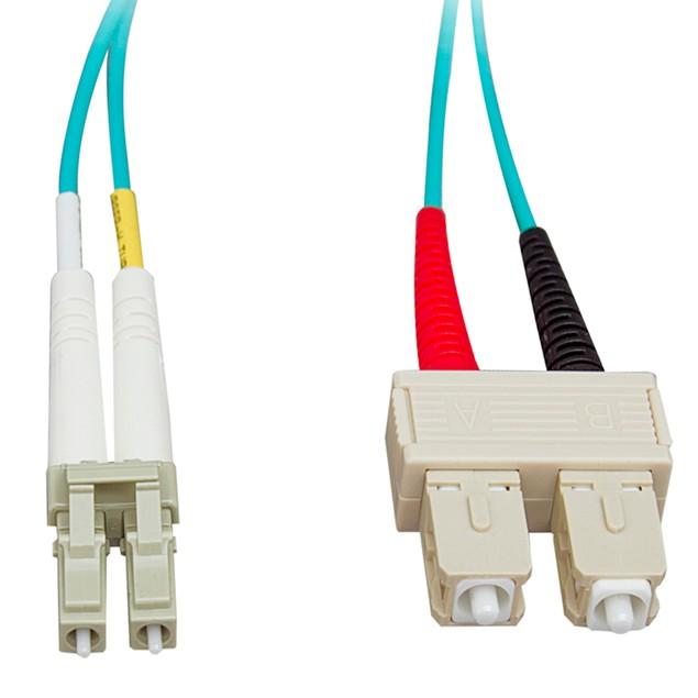 10 Gigabit Aqua Fiber Optic Cable, LC / SC, Multimode, (33 foot)