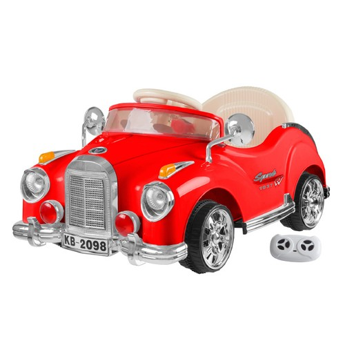 Ride On Toy Car, Battery Powered Classic Car Coupe With Remote