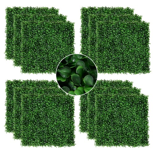 """12pc 20""""x20"""" Artificial Boxwood Plant Panels Greenery Walls Outdoor Green"""