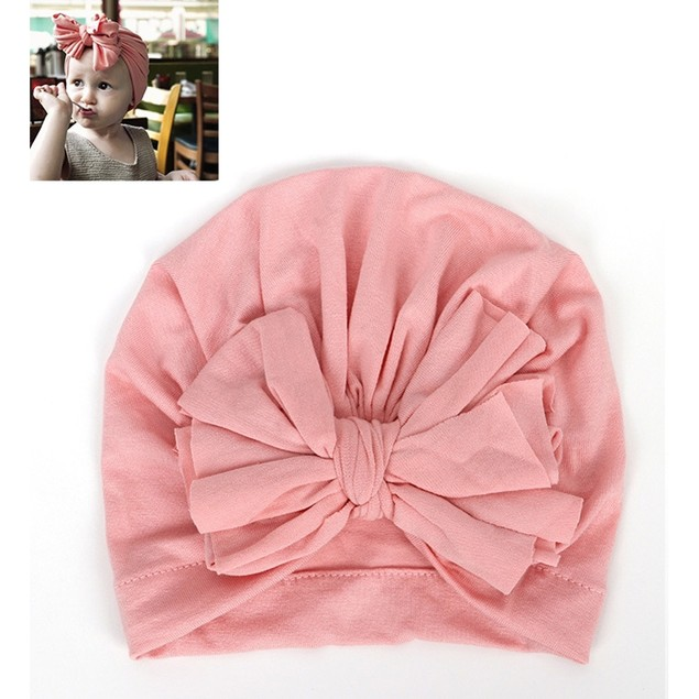 6-color Children's Knotted Bow Hat