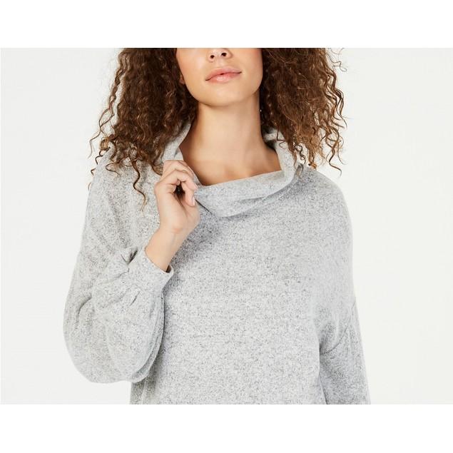 INC International Concepts Women's Cowlneck Knit Top  Gray Size Large