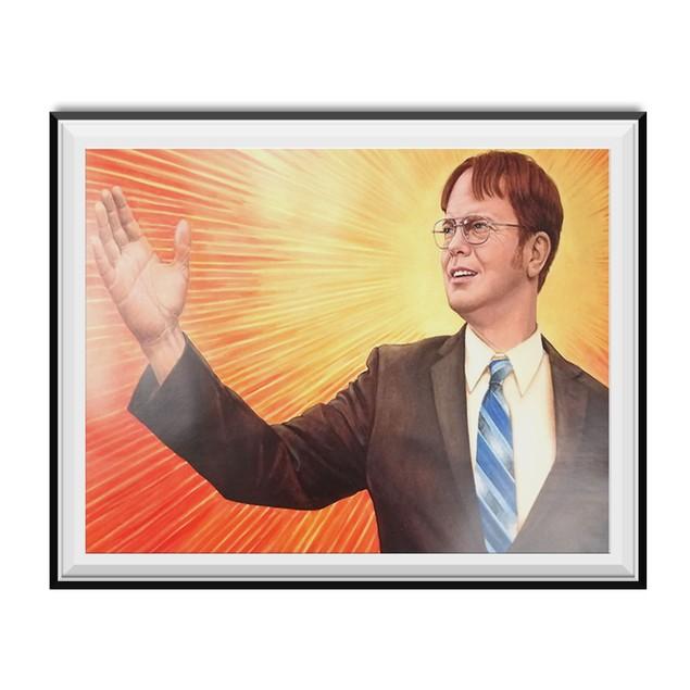 Dwight Schrute Supreme Leader Branch Manager Painting Poster 11 x 17