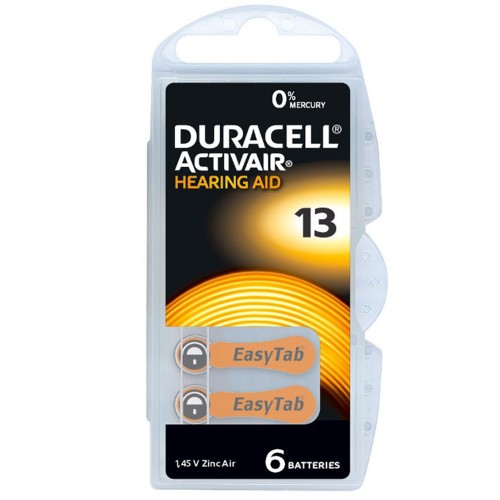 Duracell Activair Size 13 Zinc Air Hearing Aid Batteries (60 pack)