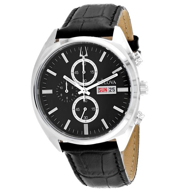 Bulova Men's Surveyor Black Dial Watch - 96C133