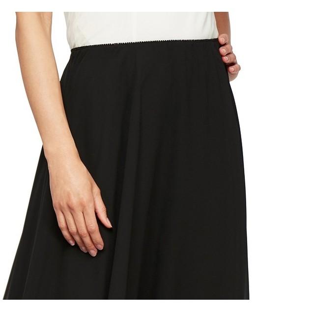 Alex Evenings Women's Chiffon Midi Skirt Black Size X-Large