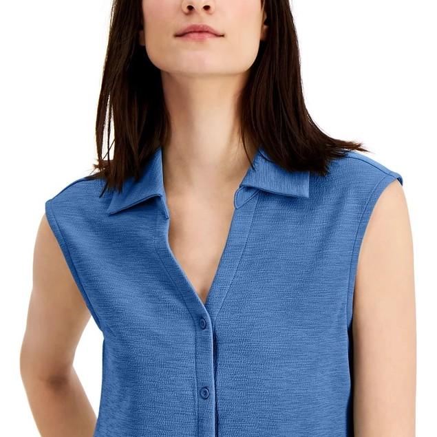 Alfani Women's Sleeveless Blouse Blue Size X-Large